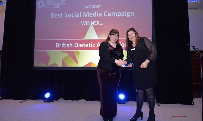 Winner, Best Social Media Campaign: British Dietetic Association, 2018
