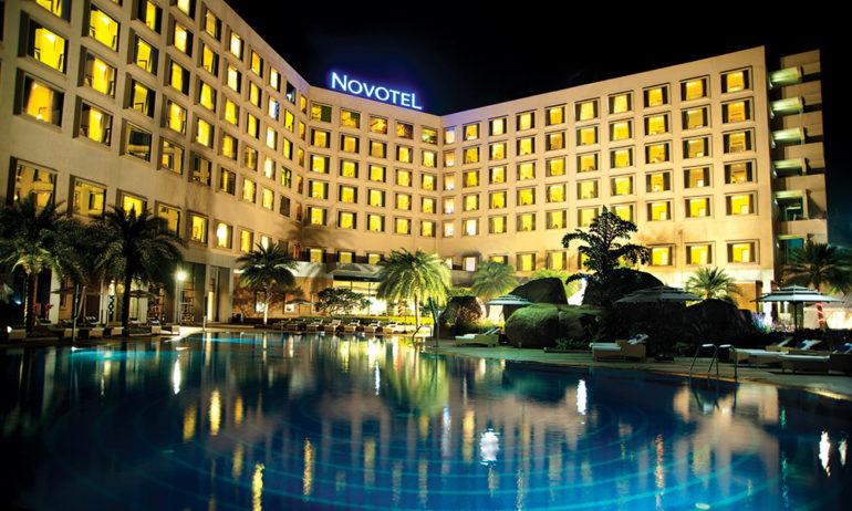 Novotel Hyderabad ICC - View at night