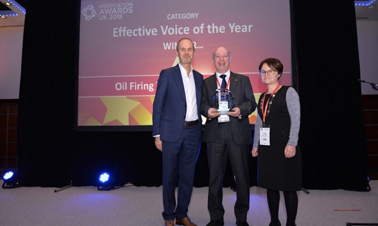 Winner, Effective Voice of the Year, Oil Firing Technical Association, 2018
